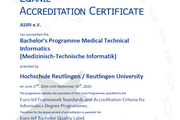 Euro-Inf Accreditation Certificate